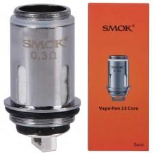 Smok Resistenza Mesh per Vape Pen 22  0.3ohm (Confezione 5 pezzi)