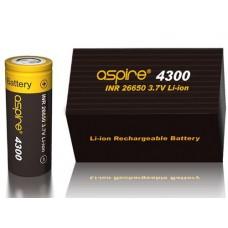 Aspire INR 26650 4300mAh 3.7V Li-ion High Drain Flat Top Battery